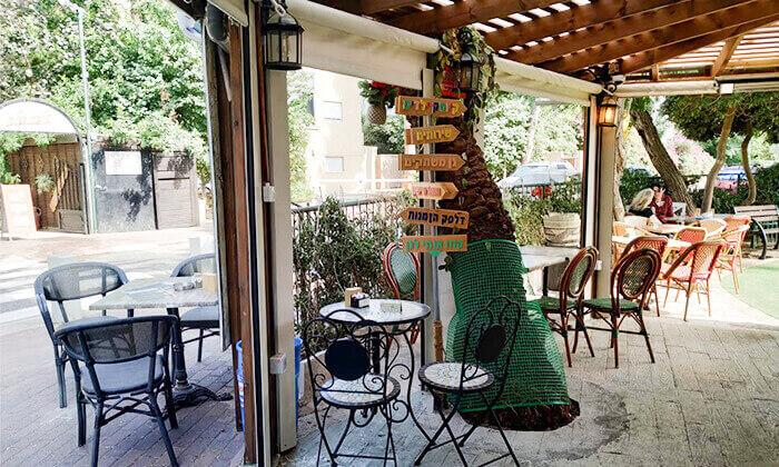 7 ארוחת ערב ליחיד או לזוג בקפה היינה, כיכר היינה חיפה
