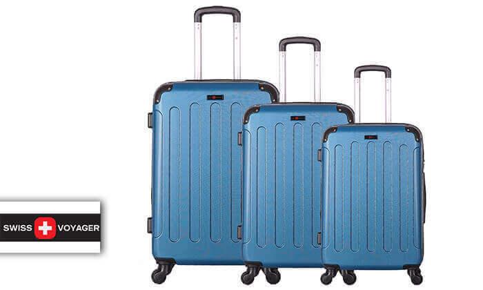 2 סט מזוודות קשיחותSWISS LONDON