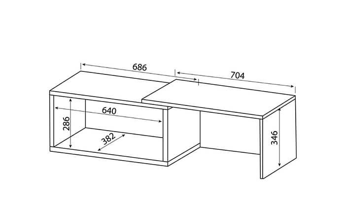 9 שולחן סלון מודולרי BRADEX