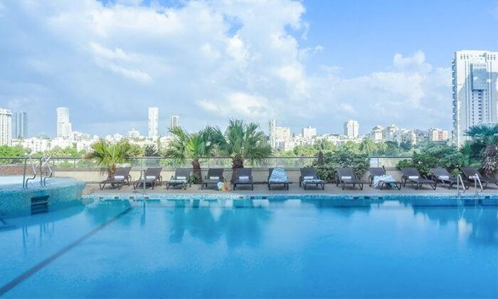 4 יום כיף במלון לאונרדו סיטי טאואר, תל אביב