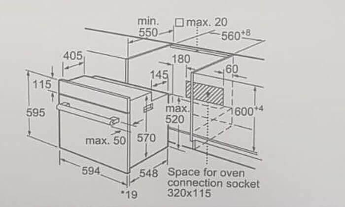 3 תנור אפייה BOSCH דגם HBF113B