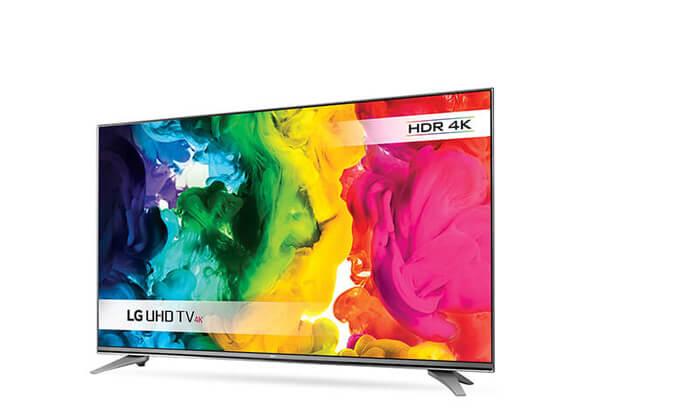 """4 טלוויזיה חכמה SMART 4K LG בגודל """"55 אינץ'"""