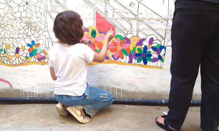 """6 סיור גרפיטי כולל סדנה לילדים בנווה צדק, ת""""א"""