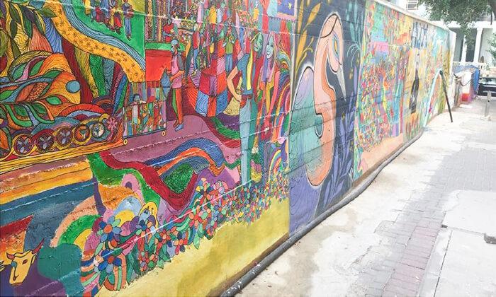 """3 סיור גרפיטי כולל סדנה לילדים בנווה צדק, ת""""א"""