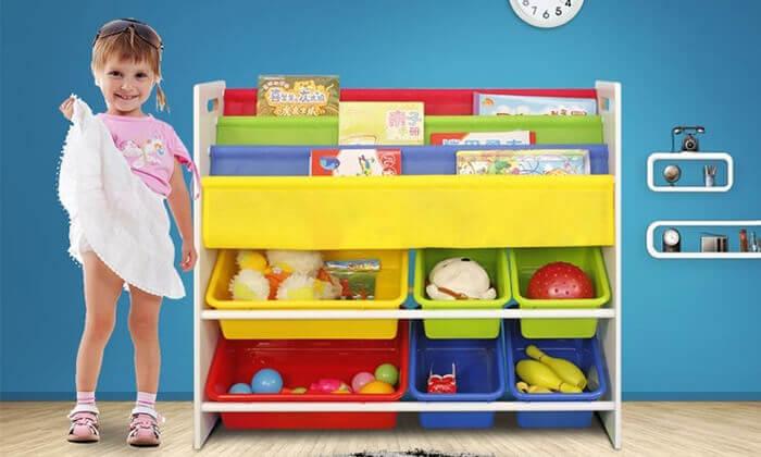 2 ארגונית צעצועים וספרים לילדים