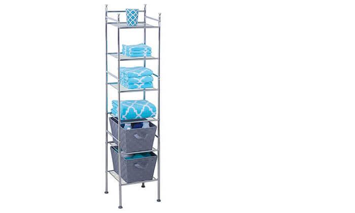 3 מתקן מדפים למקלחת honey can do מדגם bth-03484