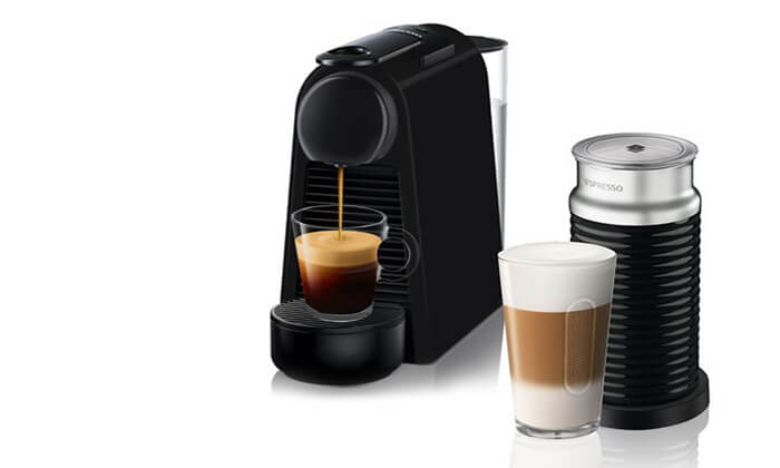 2 מכונת קפה Nespresso כולל מקציף