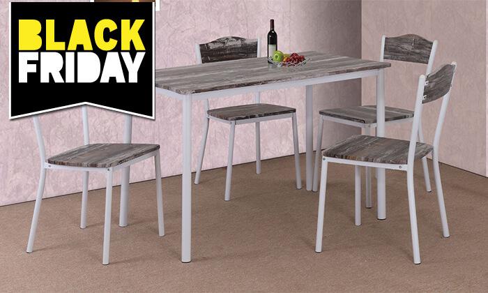 2 שולחן פינת אוכל עם 4 כיסאות