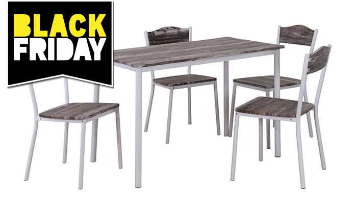 3 שולחן פינת אוכל עם 4 כיסאות