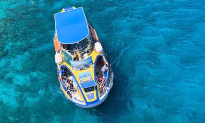 2 ספינת הזכוכית גלאקסיה באילת - שייט ליחיד כולל עצירה לשחייה