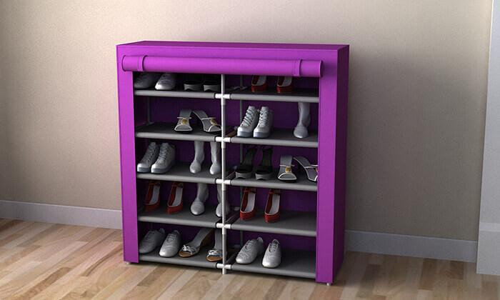2 ארונית נעליים כפולה לאחסון 30 זוגות נעליים