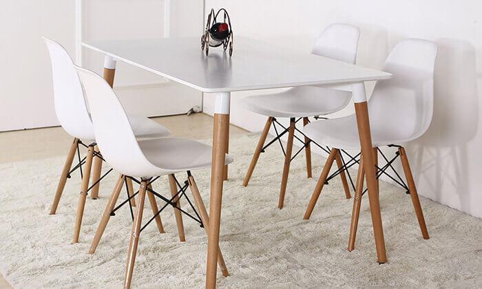 3 פינת אוכל מלבנית מדגם TD-03 כולל 4 כיסאות