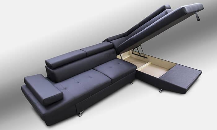 7 מערכת ישיבה פינתית עם ארגז מצעים