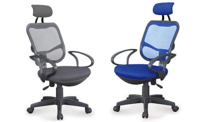 2 כסא מנהלים אורתופדי