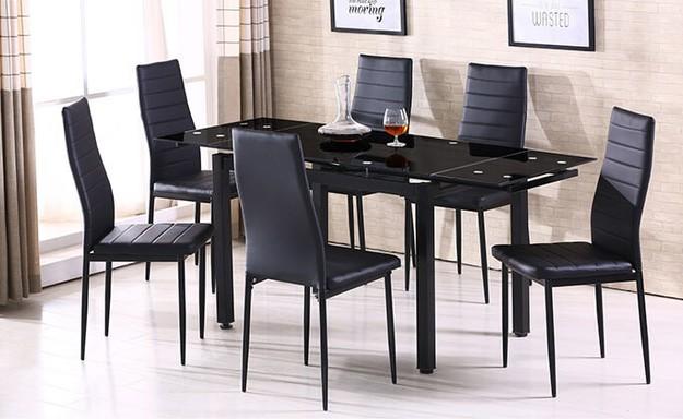 פינת אוכל עם 6 כיסאות דגם 0303