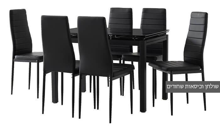 4 פינת אוכל עם 6 כיסאות דגם 0303