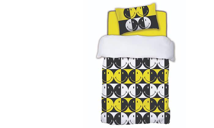 3 סט מצעים לילדיםHomeStyle בעיצוב סמיילי למיטת יחיד