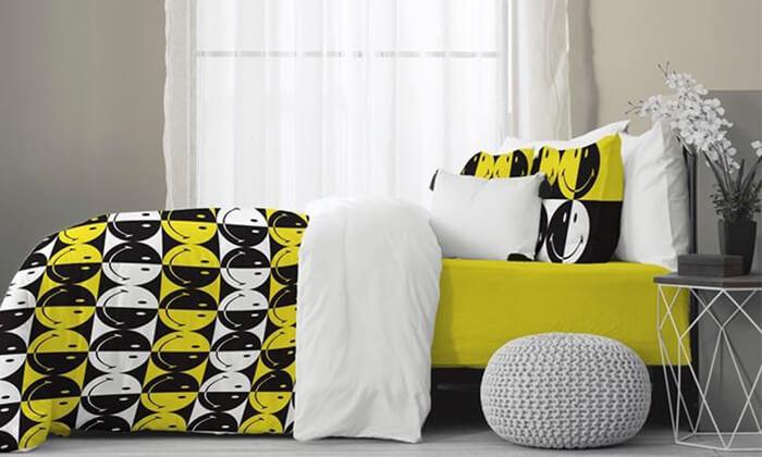 4 סט מצעים לילדיםHomeStyle בעיצוב סמיילי למיטת יחיד