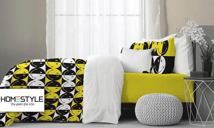 2 סט מצעים לילדיםHomeStyle בעיצוב סמיילי למיטת יחיד