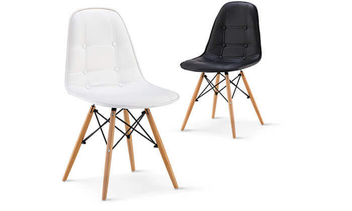 2 כסא אוכל מרופד דגם 301