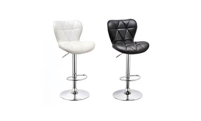2 זוג כסאות בר מרופדים דגם 8030