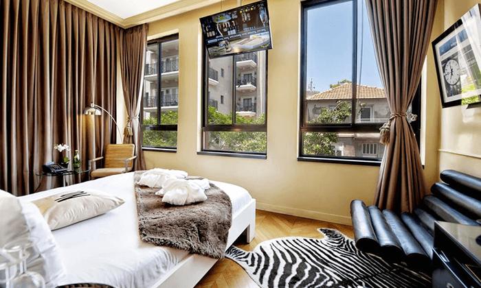 """3 מלון בוטיק מונטיפיורי 16 - חופשה אורבנית בת""""א"""