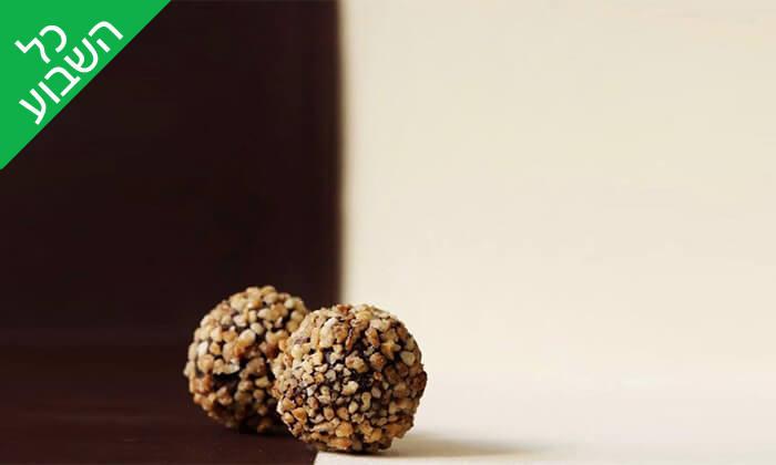 3 מארז פרלינים ואייס קקאו, COCO - Vegan Chocolate & Cacao Temple בפלורנטין