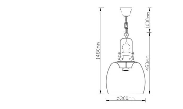 3 ביתילי: מנורת תלייה דגם ברקלי