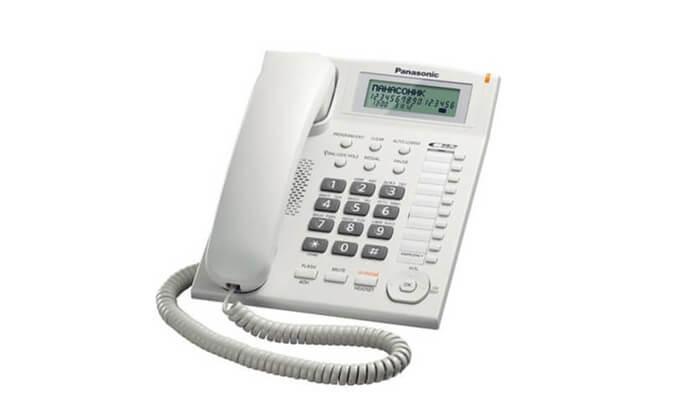 2 טלפון שולחני PANASONIC דגם TS880
