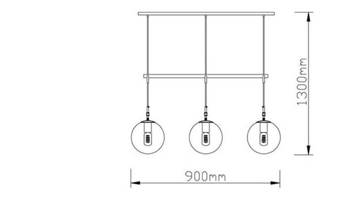 3 ביתילי: מנורת תלייה דגם גלייז קוניאק