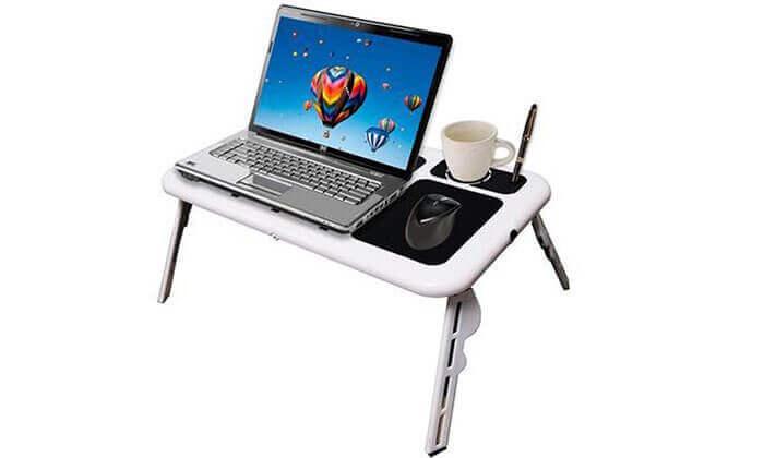 2 שולחן מתקפל למחשב נייד