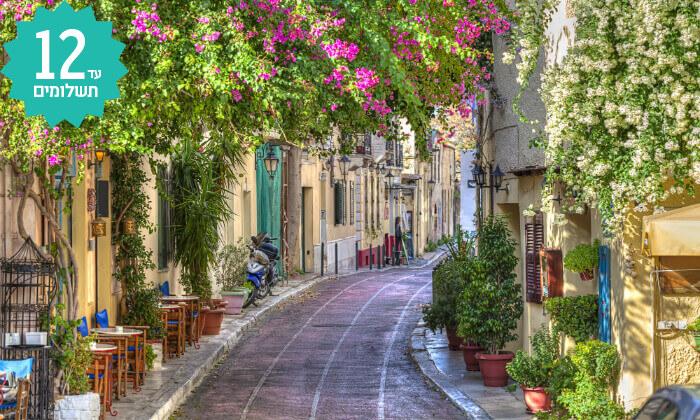 4 טיול מאורגן 8 ימים ליוון - מטאורה, אתונה, סלוניקי, כולל חגים