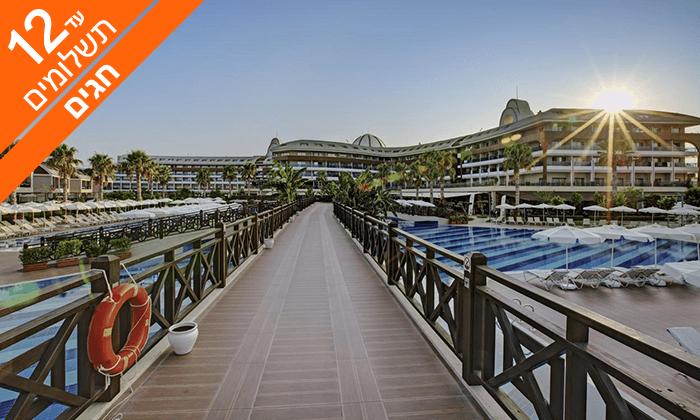 8 חופשה באנטליה - מלון אולטרה הכול כלול 5*, כולל סוכות