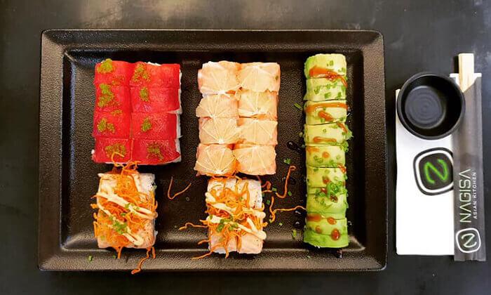 2 מסעדת נגיסה הכשרה בכיכר המדינה - ארוחה זוגית עם סושי בלי הגבלה