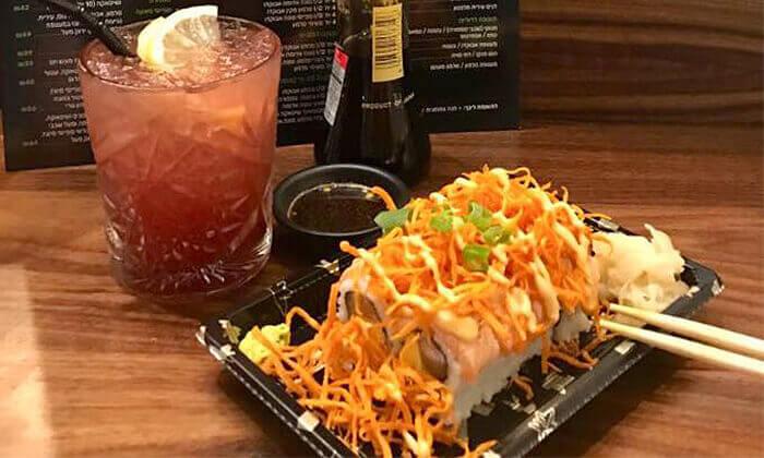 5 מסעדת נגיסה הכשרה בכיכר המדינה - ארוחה זוגית עם סושי בלי הגבלה