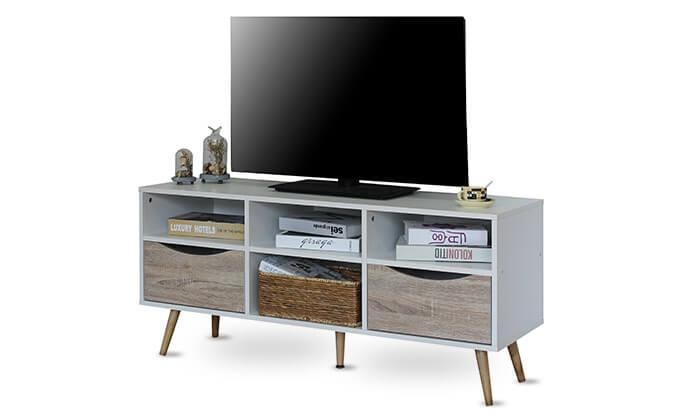 2 שידת טלוויזיה עשויה עץ