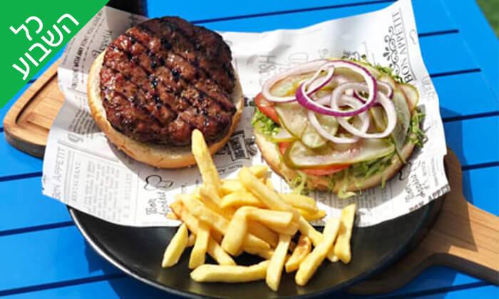 2 ארוחת המבורגר זוגית בפאפיה ביץ', נהריה