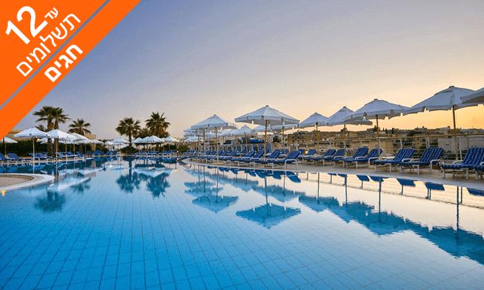 4 חופשת 5* במלטה - מלון Intercontinental עם חוף פרטי, כולל ראש השנה