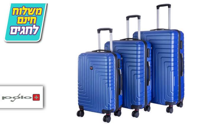 2 סט 3 מזוודות קשיחות POLO SWISS - משלוח חינם!