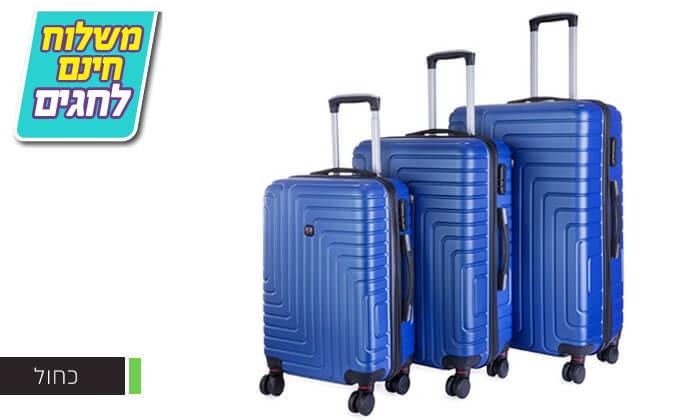 4 סט 3 מזוודות קשיחות POLO SWISS - משלוח חינם!