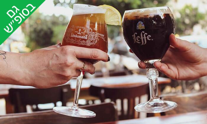 2 בירה ללא תחתית בבר מסעדה Craft TLV, תל אביב