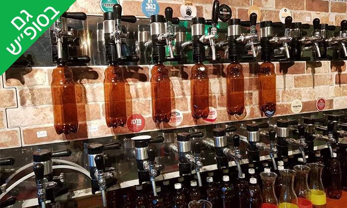 3 בירה ללא תחתית בבר מסעדה Craft TLV, תל אביב