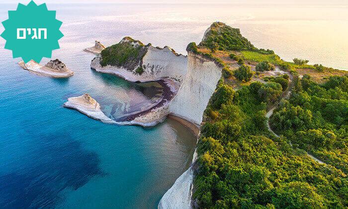 7 חבילת נופש באי היווני קורפו, כולל חגים