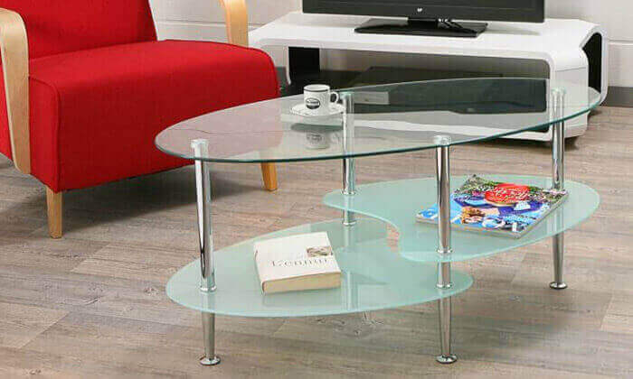 2 שולחן סלון אליפטי