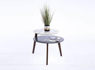שולחן קפה עגול כפול