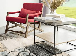 שולחן קפה מרובע כולל מדף תחתון