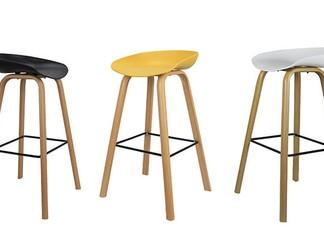 כיסא בר בעיצוב סקנדינבי נמוך