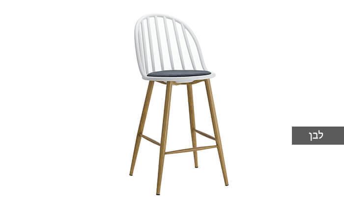 3 כיסא בר בעל משענת פסים