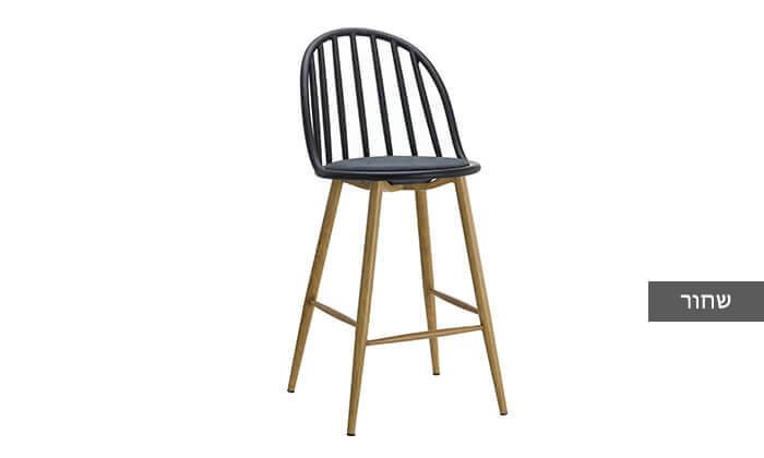 4 כיסא בר בעל משענת פסים