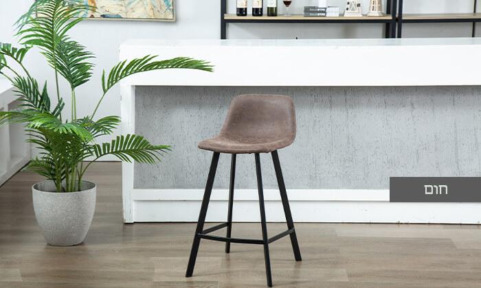 4 כיסא בר עם ריפוד דמוי עור
